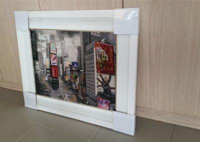 Times Square - White Frame